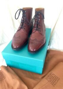 "EDWARD GREEN  ""ALDERLEY"" BOOT IN BURGUNDY Utah Calf  7.5UK / 8US on 202E Last"