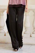 Next Black Satin Wide Leg Trousers 14L