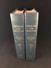 Set of 2 American Law Institute Federal Securities Code Books Parts I to XX