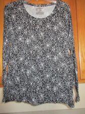 Halloween Spider Wed  Long Sleeve Shirt Junior size 15-17 XL