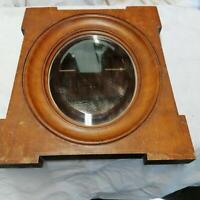 Miroir ovale verre biseauté  dans cadre bois