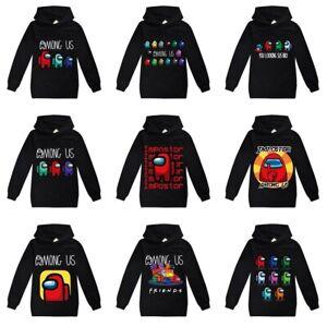 Kids Game Among Us Hoodie Boys Girls Hooded Sweatshirt Jumpers Top Xmas Gift AU