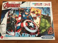 New Clementoni Maxi Supercolor Marvel Avengers 24 Piece Jigsaw Puzzle