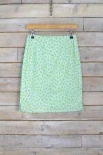 Gonne e minigonne da donna verde floreale in misto cotone