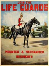 Vintage Life Guards British Army Recruitment Poster Print A3/A4