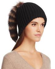 Inverni Beanie with Marmot Fur Tail Pom-Pom