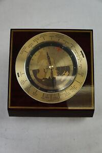 Seiko Quartz World Time Desk Clock Aviation Transportation MCM Japan