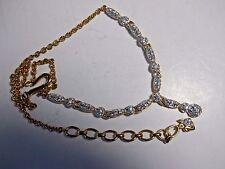 Swarovski® signed SWAN crystal pave EMMA Bride Y-shape Necklace 1500592 gold