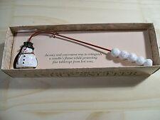 New Boston Warehouse Snowman Christmas Candle Snuffer