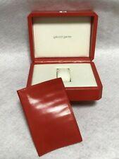 Gerald Genta Watch Box Case RED Presentation Display Empty Authentic RARE