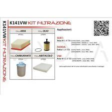KIT 4 FILTRI TAGLIANDO SEAT IBIZA IV (6L) 02->09 - SKODA FABIA 99>08 1.4 1.9 TDI