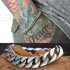 Silver Men's Stainless Steel Chain Link Bracelet Wristband Bangle Jewelry Punk P