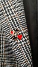 Heart Spades Brooch Lapel Collar Safety Set Jewelry Enamel Pin Metal Poker Suits