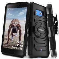 HTC U11 Case, Evocel Rugged Holster Dual Layer Case w/ Kickstand & Clip