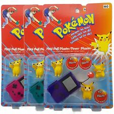POKEMON Pikachu Power Pokes Figuren Pokeball Blaster 1999 RAR