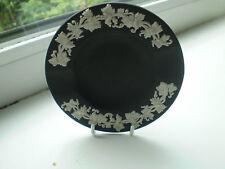Wedgwood Black Jasper Ware Ash Tray 9 cm Dia Vine Leaf British