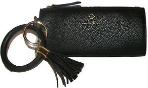 NANETTE LEPORE Black Zip Tech Clutch Wallet Wristlet NWT