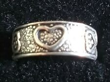 Hearts Toe Ring Solid Sterling Silver Adjustable