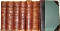 LEATHER Set; Works of GEORGE ELIOT! Complete Bindings Antiquarian Library RARE!