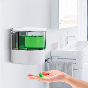 Wall-Mounted Automatic IR Public Hands Sanitizer Soap Shampoo Dispenser 600ML