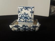 Antique 19th Century Blue and White Delft? Oriental? Match Safe