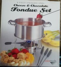 8-piece Stainless Steel Cheese, and Chocolate fondue set