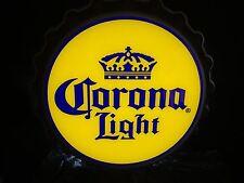 Corona Light Beer Sign LED Bottle Cap Bar Pub Beach Tiki Man Cave New!!