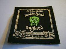 MOTÖRHEAD – very rare old original 80s NO SLEEP AT ALL - EUROPEAN TOUR 1989 Patc