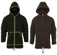 Woolen Sherpa Jacket Hoodie Fleece Lined Hippie Nepal Boho Knitted Coat SH-32