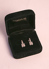 "14kt White Gold Diamond Pave Earrings from XIV Karats Beverly Hills ""Deco Style"""