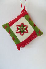 Christmas Red Patchwork Pillow Ornament