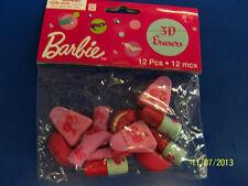 Barbie Mattel Classic Toy Girls Birthday Party School Supplies Favor 3D Erasers