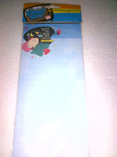 TV Show Family Guy Magnetic Memo Pad 60 count (Stewie Griffin Cartoon) New