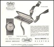 PUBBLICITA' 1955 ROLEX PASTELLO MOD 8418 WATCH PRECISIONE PREZZO CARATTERISTICHE