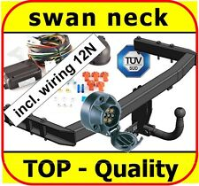 AUDI A4 2004-2007 B7 8H Saloon Fixed Swan Neck Towbar with Electric Kit 13Pin