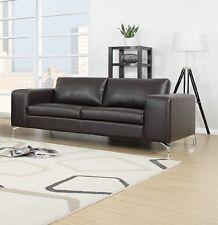 Sofa 2er Couch Wohnlandschaft Garnitur Lounge Wohnzimmer Kunstleder Dunkelbraun