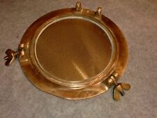 Custom Handmade Brass Porthole Mirror-Made From Real Vintage Port Hole Parts