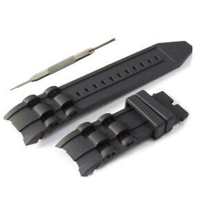 26mm Black Silicone Watch Strap Band Fits For Invicta Invicta Pro Diver W/ Tool