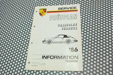 Porsche 911 Informations Technique Original 3,2 Carrera
