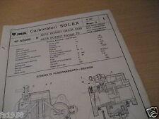 Alfa Romeo Giulia 1300, Solex 40 addhe - 11 carburador plan