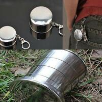 Portable Stainless Steel Retractable Cup Telescopic Collapsible Travel KV