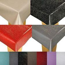 GLITTER SPARKLE WIPE CLEAN PVC  VINYL OILCLOTH TABLECLOTH