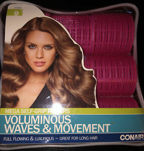 Conair Mega Self Grip Rollers Voluminous Waves And Movement 9pc Set