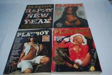 Vintage Playboy Magazines Lot of 4 April December 1977 January 1976 May 1978