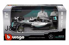 Bburago Mercedes Benz AMG Petronas F1 2016 W07 Híbrido Nico Roseberg 1/43