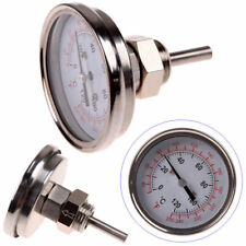 "1/2"" NPT Steel Kitchen Oven Moonshine Grill BBQ Thermometer Temperature Gauge"