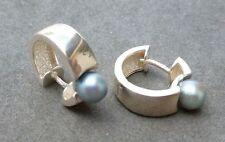 Ohrschmuck im Creole-Stil aus Sterlingsilber mit Perlen