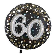 3D Effekt Glitzer-Folieballon Set zum 60. Geburtstag