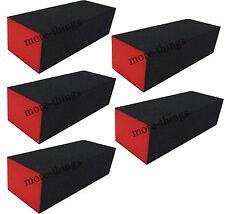 5 x New Art ponçage gel de tampon de fichiers de bloc à ongles noir S019 3 côtés