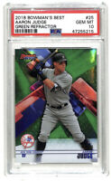 2018 Bowman's Best Aaron Judge 58/99 green refractor card PSA 10 Yankees